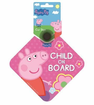 Peppa Pig 'Child on Board' Double Sided Car Window Sign in Pink
