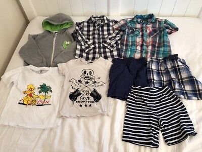 3-4 Years Boys Clothes Bundle Tops Shorts Shirts (Ref:15)