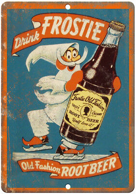 "Frostie Old Fashion Root Beer Ad 10"" x 7"" Reproduction Metal Sign N08"