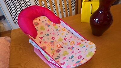 Summer Infant Deluxe Baby Bather Bath Support Chair 3 Positions PINK