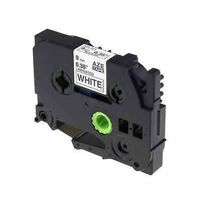 Black on White Label Tape Compatible for Brother P-Touch TZ TZe 221 TZe221 9mm