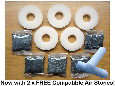 5 x COMPATIBLE BIORB REPLACEMENT FILTER SERVICE KIT BIUBE BIORB LIFE