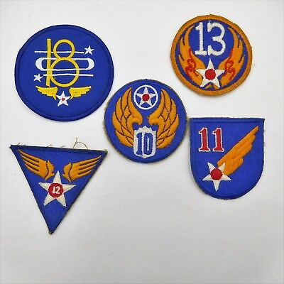 Five Army Air Corps - Air Force vintage shoulder patches   (546)