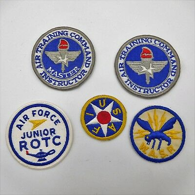 Five Army Air Corps - Air Force vintage shoulder patches   (548)
