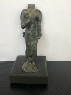 Ancient Antique Egyptian BRONZE STATUE 500 --600 B.C