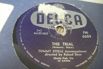 TOMMY STEEL *THE TRIAL / HIAWATHA *South Africa Issue*VG