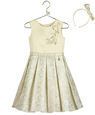 f79438783523a Girls Luxury Official Disney Boutique Princess Belle Occasion Party Dress  2-10yr