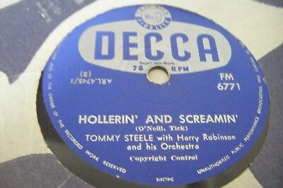 TOMMY STEEL *WHAT A MOUTH / HOLLERIN AND SCREAMIN *South Africa Issue*VG
