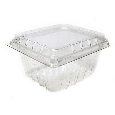 Clear Plastic Berry / Produce Vented 1 Pint Basket / Container by MT Products -