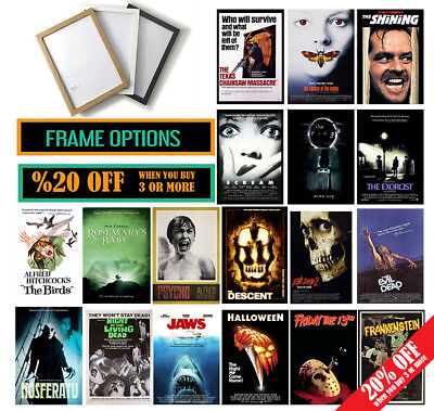 Horror Movie POSTER /FRAME OPTIONS A3 A4 WALL ART Valentines Day Gift Home Decor