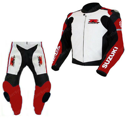 Suzuki Gsxr Motorbike Leather Suit Motogp Mens Motorcycle Leather Jacket Trouser