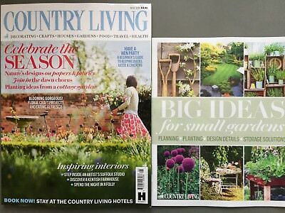 Country Living Magazine May 5/2018 Inspiring Interiors Garden Ideas
