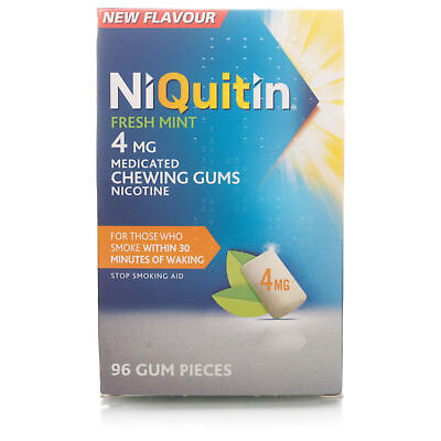 niquitin fresh mint 2mg medicated chewing gums nicotine 96 gum pieces