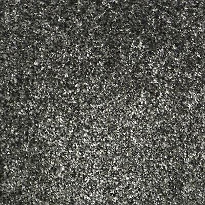 Liberty Charcoal Grey Twist Pile Quality Feltback Carpet Any Size Cheap 4m Wide
