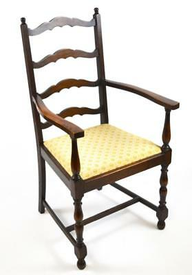 Antique Victorian Oak Ladder Back Carver Armchair - FREE Shipping [PL4421 A]