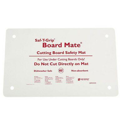 "San Jamar CBM1016 Saf-T-Grip Board-Mate Nonslip Cutting Board Mat, 16""x 10"""