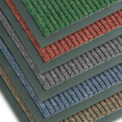 """NoTrax T39 Scraper Carpet Mat for Wet and Dry Areas, 3'x6'x3/8"""", Midnight"""