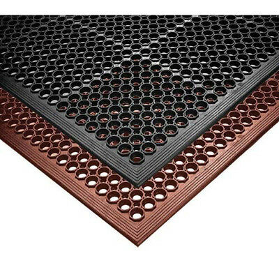 "NoTrax T30 Rubber Safety/Anti-Fatigue Mat for Wet Areas, 3'x 5'x 1/2"", Black"