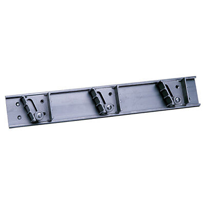 "Value Series 7220 Mop/Broom Holder - 3 Clips, 18"" Mounting Bar"