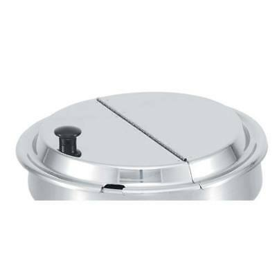 """Vollrath (47488) 9-5/8"""" Stainless Steel Hinged Cover"""