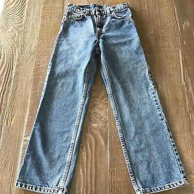 be37ce14 Vintage Boys Levis 562 Loose Fit Orange Tab Blue Denim Jeans 27X27 Made in  USA