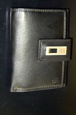 """LADIES BLACK """" Old River """" LEATHER PURSE, WALLET, CARD HOLDER NEW with TAGS"""