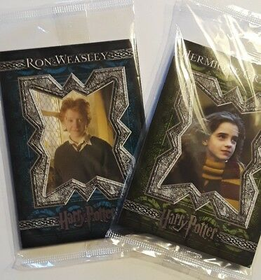 Harry Potter Trading Cards 2 Packs of 4 New Sealed