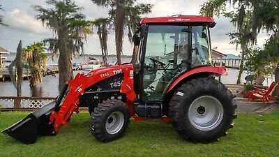 New 55 Horse Power 4x4 Cabin Tractor and Loader