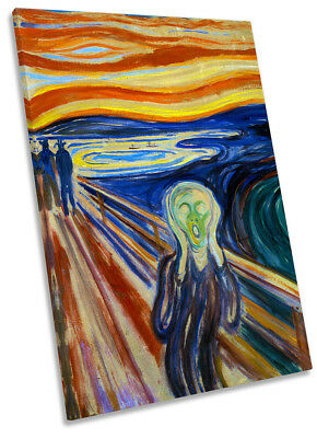 """34/""""x42/"""" THE SCREAM by EDVARD MUNCH FAMOUS TWILIGHT EMOTIONAL TERROR Repro CANVAS"""