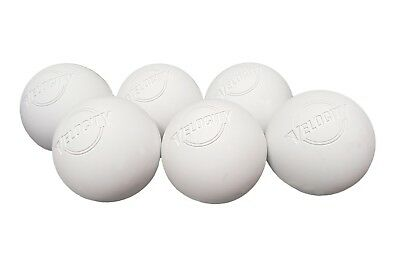 Velocity 6 Pack Of White Lacrosse Balls NOCSAE Certified