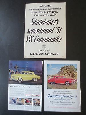Vintage 1950-53 Studebaker Magazine Ads (7 in total)