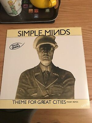 "Simple Minds Theme For Great Cities Moby Remix 12"" Vinyl RSD"