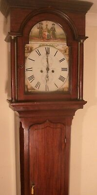 "Antique Mahogany  ""  Halifax  ""   Longcase /grandfather Clock"