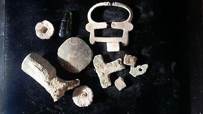 Mixed Lot Of Ancient Roman, Byzantine, Greek, Islamic Artifacts Holy Land Jordan