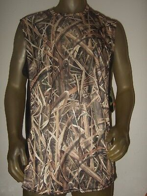 a00b6700c99d9a Men s S-Med Mossy Oak Camo Camouflage Hunting Sleeveless Muscle Tank Top  Shirt