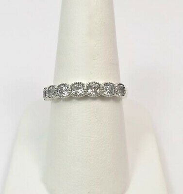 52ebe57a7 Pandora Sterling Silver Alluring Cushion Ring With Cubic Zirconia 191019CZ