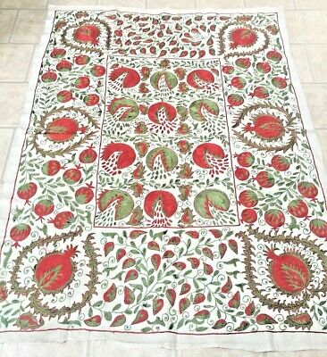 Embroidery Large Uzbek Beautiful Quilt Bedding Handmade Wall Decor Embroidery Suzani Linens & Textiles (pre-1930)