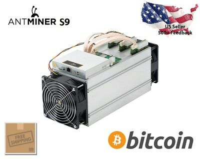 New Bitmain Antminer S9 14TH/s Bitcoin Miner With PSU Ships Free May 1-10