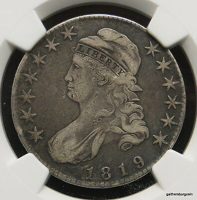 1819 Bust Silver Half Dollar NGC Certified VF Details
