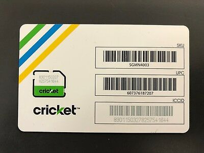New Cricket Wireless 4G LTE Micro Size 3FF Sim Card SGMN4003