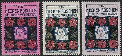 Germany Poster Stamp, Reklamemarke: A Wildflower for Migratory Birds (3)- cw45r