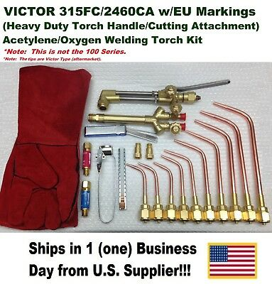 VICTOR 315FC TORCH W/2460 CUTTING ATTACHMENT Acetylene/Oxygen Welding Kit Setup!