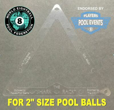 "The Shark Supreme Rack Sheet for 2"" inch (50.8mm) English size pool balls"