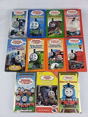 Thomas The Tank Engine And Friends Lot Of 11 Vhs Tapes W Rare Ringo Starr