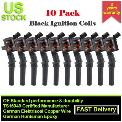 10x High Energy Ignition Coils For Ford F150 F250 F550 4.6/5.4L DG508 V8 Lincoln