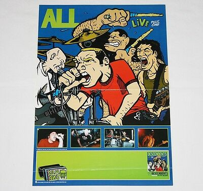 ALL Live Plus One Poster 19''x13'' - Epitaph Records - RARE
