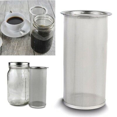 Cold Brew Coffee Maker Iced Tea Infuser Stainless Steel Filter For Mason Jar Gl