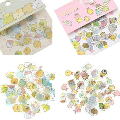 80 X Japanese Sumikko Gurashi Stickers Flakes Bag Sack Animals DIY Scrapbooking