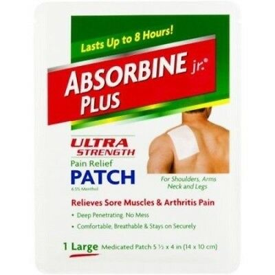 Absorbine Plus Jr Pain Relief Back Patch5 1/2 X 4Medicated (Pack of 13)
