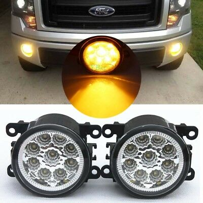 2x LED Front Fog Lights For Ford Transit MK7 MK8 2006-2018 DRL LAMPS Plug /& Play